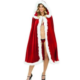 f2c0994a3dd Hot Sale!High Quality Women Santa Claus Cloak Clothing Christmas Santa Claus  Cosplay Wear Stage Clothing Snow Day Clothing