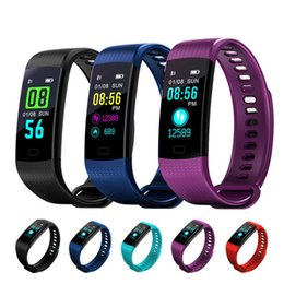 Wholesale Electronics For Kids - Y5 Smart Wristband Electronics Bracelet Color LCD Watch Activity APP Fitness Tracker Blood Pressure Heart Rate Call SMS App Push