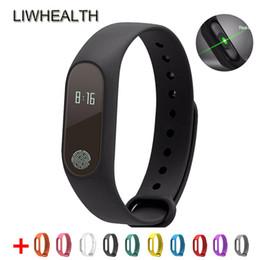 Подгонка бит умные часы онлайн-M2 Smart Watch браслет Монитор сердечного ритма Шагомер Часы Smartwatch Электроника Трекер активности IOS / Android ПК Xiomi / Fit Bit