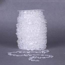 Decorazioni di tende diamanti online-1 rotolo acrilico perlina di cristallo tenda 33ft ghirlanda diamante acrilico perlina di cristallo tenda di nozze fai da te decorazione del partito per la casa