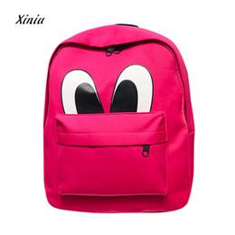 Wholesale Big Backpacks School Girls - New Design Baby Kids Cute Backpack Girl Boy Fashion Zipper Big Eyes Backpack School Bags Fashion Shoulder Bag High Quality