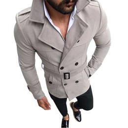 самое теплое длинное пальто Скидка Fashion Autumn Winter Trench Coat Men Double Breasted Warm Long Jacket Turn-Down Collor Overcoat Button Long Sleeve Jackets Male