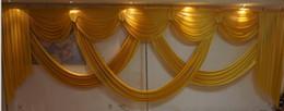 Décoration de mariage en Ligne-6M large butin de toile de fond décoration drapé de mariage décoration styliste