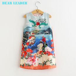 Wholesale Leaders Clothing - Bear Leader Brand Girl Dress 2016 New Princess Dress Girls Clothes Landscape Design Kids Dresses for Girls Costumes 3T-8T