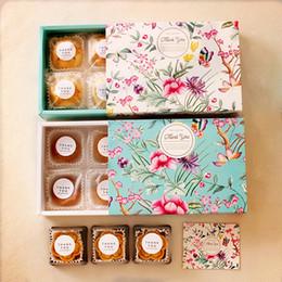 2019 контейнеры для сыра Цветочный Дизайн Сыр Торт Коробка Конфет Печенье Контейнер Закуски Подарочная Упаковка Коробки скидка контейнеры для сыра