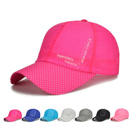 ladies running cap Promo Codes - New Cap Women Running Visor Cap Outdoor Hat Men Sport 2018 Summer Tennis Hombres Sun Visor Mesh Outdoor Quick Dry Lady Hats&Caps