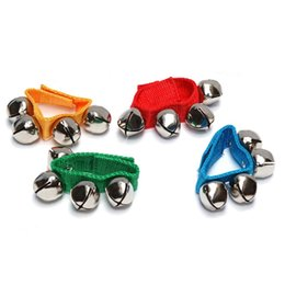 Wholesale Play Dance - Multi Color Foot Bells Early Educational Dancing Accessories Toy Wrist Bell For Children 2 1rc C R