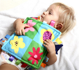 Wholesale Comfort Blankets - Cute Soft Square Doll Plush Toys Comforting taggies Blanket Appease Towel Baby Calm Wipes Infant Kids Infant Towel Blanket