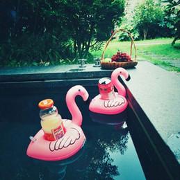 держатель бассейна Скидка Новый Мини-Воды Подставки Надувные Flamingo Float Бассейн Игрушки Пить Держатель Чашки Плавание Украшение Партии Пляж