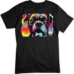 Summer Tops Tees camiseta Top O-cuello de manga corta para hombre elegir Adoption Boxer camiseta para perros desde fabricantes