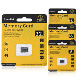Wholesale Flash Shots - Cloudisk Memory Card 64GB 8GB 16GB 32GB Micro SD Cards Extreme Pro MicroSD Card Professional 1080P Full HD Video Shooting TF Flash