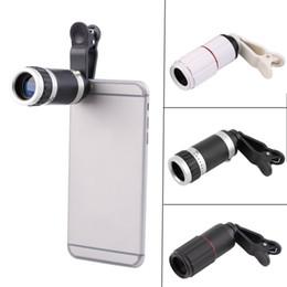 2019 cámara de teléfono celular negro Lente de zoom óptico universal 8X para teléfono inteligente Lente de zoom óptico de cámara para teléfono móvil portátil para Huawei X 8 S8 S4