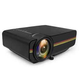YG400 Mini LED Proyector de cine en casa Proyector portátil Cine Beamer Videojuego Projetor AC3 HDMI USB VGA AV Blanco / Negro Color desde fabricantes