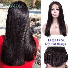Малайзийские парики для волос из человеческого волоса онлайн-Малайзийский Полная Плотность 360 Кружева Фронтальный Парик Реми Прямые Парики 360 Кружева Фронт Человека Реми Парики Волос Для Женщин
