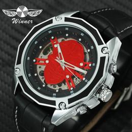 8416ce1ada4 relógio mecânico mais legal Desconto VENCEDOR Moda Legal Auto Mecânica  Assista Men Steampunk 3D Esqueleto Crânio