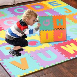 2019 tapis de jeu en mousse pour bébé Tapis de jeu en EVA LARGE Alphabet Numéros Baby Room Puzzle en mousse ABC Puzzle 36pcs / lot tapis de jeu en mousse pour bébé pas cher