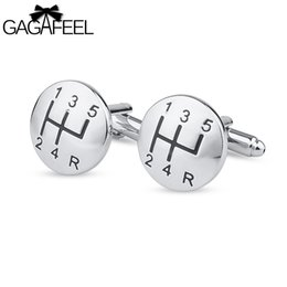 Wholesale Metal File Clips - GAGAFEEL Men Cufflinks Car Linked File Round Sharp For Shirts Men Tie Clip Paint Color Copper Metal Jewelry Gift For Friendship