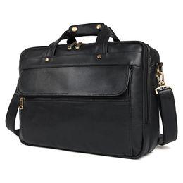 Classic Vintage Cowhide Vintage Travel Large Briefcase Business Tote  Handbag Men s Shoulder Laptop Bag Genuine Leather Briefcase 218f8e1dba198