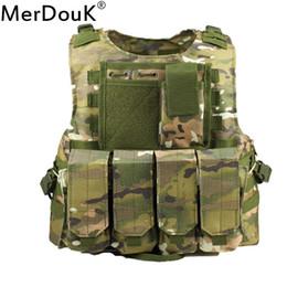 gilet tactique de combat Promotion Gilet tactique homme forces spéciales SWAT s veste de camouflage Molle équipement porte-équipement de combat