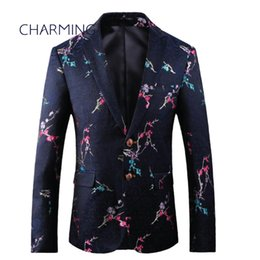 best quality suits for men Promo Codes - Mens suit styles Casual suits for men For actor singer suit jacket for men High quality fabric embroidery process Best mens suits