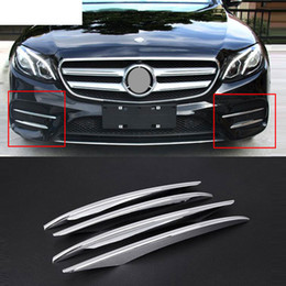 Wholesale abs front - 4pcs ABS Chrome Front Grille Fog Lamp Cover Trims For Mercedes Benz E Class W213 2016 2017 Car Accessory