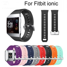Wholesale ionic bracelets - Silicone Watch Band Wrist Strap Bracelet Replacement Accessories for Fitbit Ionic Smartwatch Watchbands Sports Soft Wristband