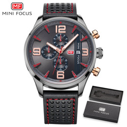 3b59a2a8f87 MINI FOCUS Mens Relógios Top Marca de Luxo Esporte Relógio de Quartzo- Relógio de Couro Strap Homens Relógio De Pulso À Prova D  Água relogio  masculino