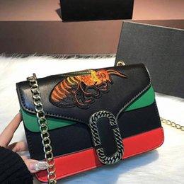 Wholesale Faux Ostrich Purses Handbags - 2018 Luxury famous Brand designer Handbags Counter synchronization bee bag Shoulder Replica Bags 5A Purse lady women wallet 180410003AWJ