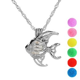 jóias de pesca Desconto Gaiola de pérolas jóias medalha de pingente de peixe gaiola medalhão difusor medalhão para oyster pérola bola de fibra