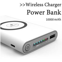 carregadores de bateria portátil Desconto 10000 mah power bank carregador de bateria externa de carga rápida carregador sem fio powerbank portátil carregador de celular para iphone 8 8 plus x samsung