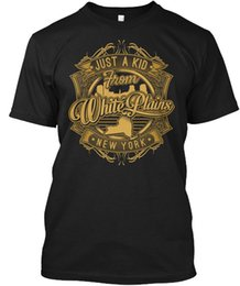 Unique Just A Kid de White Plains - Nueva York Wholesale Cool Casual Sleeves Cotton T-Shirt Fashion New T-Shirts Unisex Tagless Tee T-Shirt desde fabricantes
