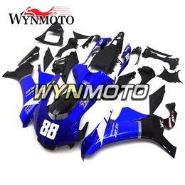 Kit de carroceria moto on-line-Carenagens Azul Branco Preto Motorbike 2015-2016 R1 Motocicleta Completa ABS Carenagem Kit Para Yamaha YZF1000 R1 YZF 1000 2015 2016 Bodywork Body Kits