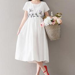 ab673c050b5 corti abiti bianchi in lino Sconti 2018 Bianco Mori Style Summer Dress  Cotone Lino Lolita manica