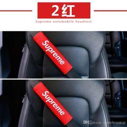Acolchado de asiento automático online-2 UNIDS / Set Car Auto Creativo cinturones de seguridad Van Soft Shoulder Harness Sleeve Plush Safety Seat correa del cojín del cinturón