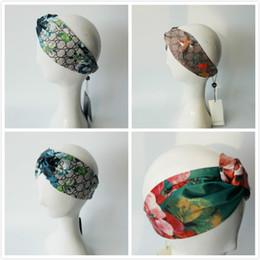 Wholesale Turban Party Women - Designer Elastic Headband for Women Fashion Brand Hair Accessories Girl Retro Turban Head wraps Gifts