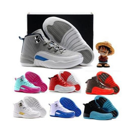 Wholesale cool shoes for girls - Kids' Basketball Shoes 12 Children's Sports Shoes for Boys Girls Free Shipping Chinese Product Parent-Chind Shoes Cool Gray