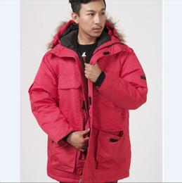 Top-Mode Kanada Männer Weiße Gänsedaunenjacke Verdicken Mantel Outdoor Hohe Dichte wasserdicht kältebeständig Skianzug von Fabrikanten