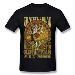 Camisa muerta online-Hip Hop Clothing Cotton T Shirt Men's Short Grateful Dead Crew Neck Summer Camiseta
