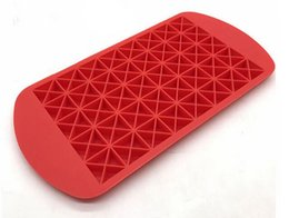 grid mold silicone Promo Codes - 160 Grids triangle DIY Small Ice Cube Mold Silicone Ice Tray Cube Maker Fruit Ice Cube Maker Bar Kitchen Accessories