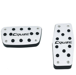 Wholesale Pedals Brake Gas - 2pcs New Aluminum Accelerator Car Brake Gas Foot Pedal for Chevrolet Cruze Replacement Car Styling Accessories