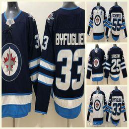 Mens Winnipeg Jets 26 Blake Wheeler 29 Patrik Laine 25 Stastny 55 Mark  Scheifele 33 Dustin Byfuglien 37 Hellebuyck Hockey Jersey 0a6101e41