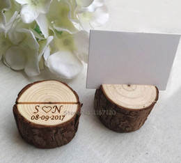 name card stand holder Coupons - 20pcs personalized wood table number holder Guest Card Holders woodland wedding place card stand name tag holder Rustic wedding