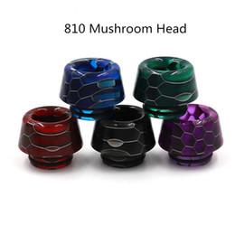 810 Drip Tips Resin Snakeskin Colorful Bore Bore Mouthpiece per tfv8 tfv12 principe drip tip e 510 drip tip Snakeskin bocchino da