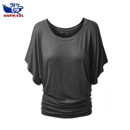 Blusas da luva do flutter camiseta on-line-Camisa de T das mulheres por atacado Casual Curto Flutter Manga T Blusa Plissada Casual Magro Top frete grátis