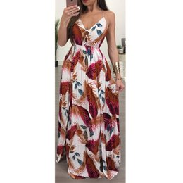 Wholesale Clothes For Nightclub - Woman Summer 2018 Maxi Summer Dress New Fashion Nightclub Robe Femme Sundresses Long Women Sexy Clothing Split Party Dresses for Women