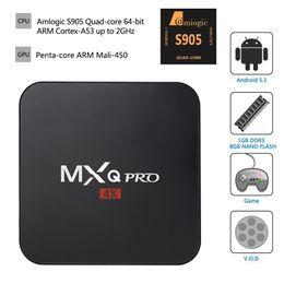 2019 мини-миль на галлон MXQ Pro Android 6.0 Amlogic S905 TV Box четырехъядерный 1 ГБ / 8 ГБ Bluetooth HDMI WIFI 4K 1080P HD медиа-плеер dhl доставка