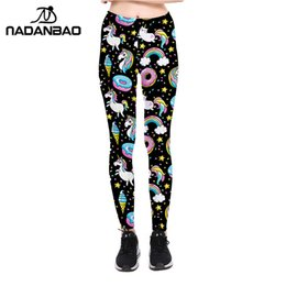 star galaxy s Coupons - NADANBAO Unicorn 2018 Leggings Women Galaxy Sky Star Ring Rainbow Digital Print Leggins Plus Size Elastic Workout Pants