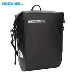 cremalheira traseira Desconto Saco de bicicleta de saco de bicicleta à prova d'água Roswheel Rack traseiro Rack sacos de suspensão Pannier
