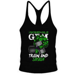 sexy muscle shirt Promo Codes - Active Brand Sexy Men Fitness Tank Tops Hulk Print Bodybuilding Men O -Neck Sleeveless Shirt Muscle Cotton Tank Top Men Vest Singlets