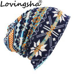 2da98bd7f93 LOVINGSHA Autumn Winter Classical Design Hats For Men Thin Hat  Multifunction Women Skullies Beanies Fashion Feminino Scarf HT113